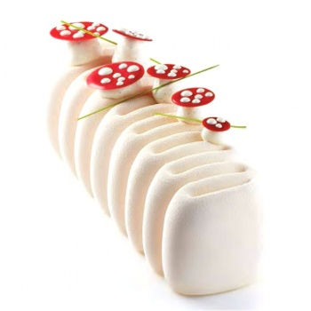 Pavoni Silicone Entremets Mold - POP Creme - KE022 -250 x 84 x 75mm H - Vol: ~ 1000 ml