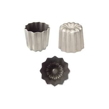 Gobel Set of 6 Canneles Bordelais Aluminium Molds