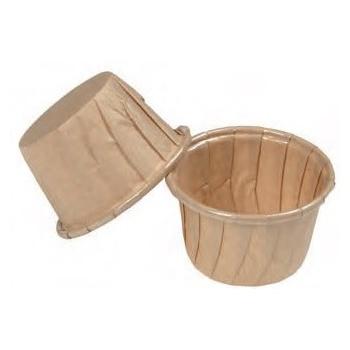 Frestanding Paper Baking Cup Beige - 1 3/4''x 1 7/16'' - 50pcs
