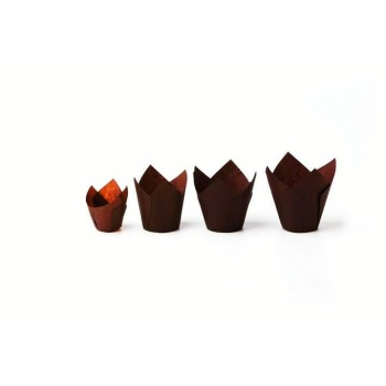 Tulip Disposable Baking Cup Extra Large - Brown 2''x4''- 200 pcs