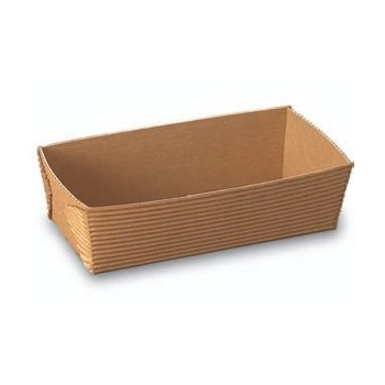 "Rectangular Loaf Pan (Plain Brown)- 5.5""l x 2.6""w x 1.8""h - 250 pcs"