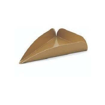 "Server Cake Tray (Gold Triangle Sm.)- 4.3""l x 2.9""w - 500 pcs"