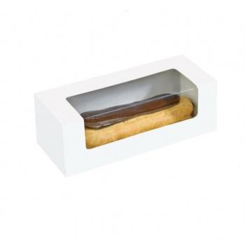"Cardboard Window Box for Eclair, Macaron & Hotdog 5.90 x 1.96 x 1.96"" - 250pcs"