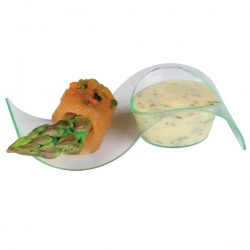 Green Transparent Wave Dish - 3.9 x 1.6 x 0.9?? - 0.25oz - 200pcs