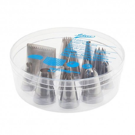 Ateco 12-Piece Large Tube Set - Stainless Steel