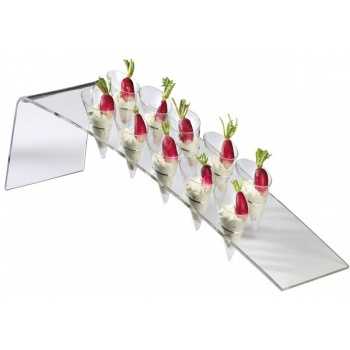 Harp buffet display for 10 small cones - 22,6 ? x 5,8 ? x 6,3 ?