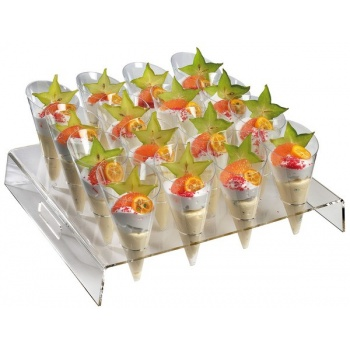 Square buffet display for 16 large cones - 15 '' x 13,7 '' x 2,3 ''