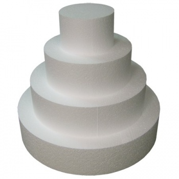 "Round Cake Dummies 4'' High - 8"" diam."