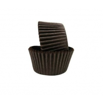 Brown Greaseproof Baking Cups Medium - Bottom 2'' - 1-1/4'' Sidewall - 683pcs