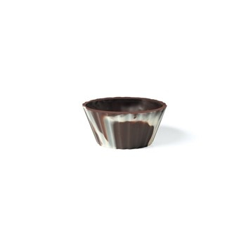 Belgian Chocolate Cups - Ballerina Cups Marbled Ø 2.56'' x 1.57 x 1.18- 105 Pces