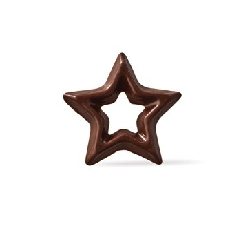Belgian Chocolate Decoration Galaxy Star Dark - 304 Pces